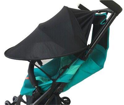 Black Baby Child Pushchair Stroller Pram Buggy Sun Shade Canopy Cover UV UPF50+ 9