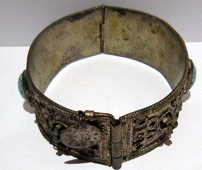 BEAUTIFUL ANTIQUE 1800s'.SILVER BRACELET in 2 PARTS,AMAZING FILIGREE # 547 5