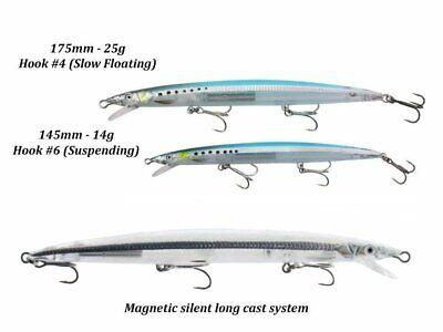 Savage Gear Sandeel Jerk Minnow 175mm 25g Slow floating Jerkbait COLOURS