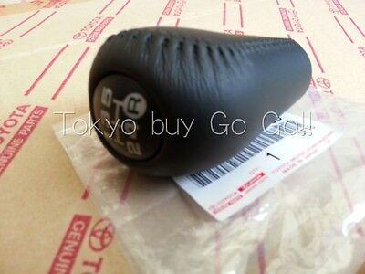 Toyota Land Cruiser Prado 120 Black Leather 5 Speed Shift Knob Genuine OEM Parts