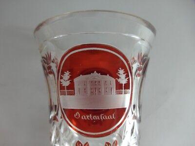 Andenken Ansichten- Becher Glas gebeizt, TEPLITZ, um 1850  -1860  AL83 9