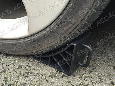 4 x Streetwize LWACC72 Plastic Car Caravan Boat Trailer Wheel Chock Stop Stopper 2