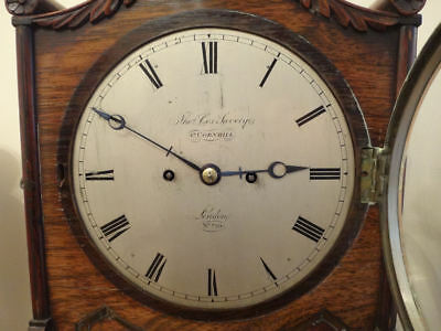 Fine Regency brass inlaid Rosewood BRACKET CLOCK Thomas Cox Savory London c 1820 5