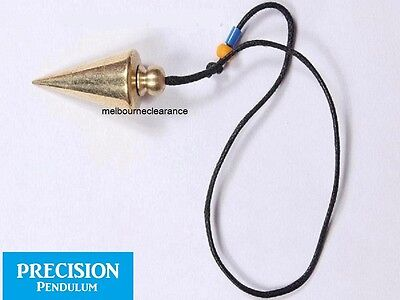 Solid Brass Metal Precision Pendulum w/ Cord Dowsing Divination Energy Mystical 2