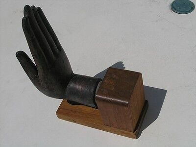 Exceptional Ancient Asian Bronze Buddha Hand Mounted 4