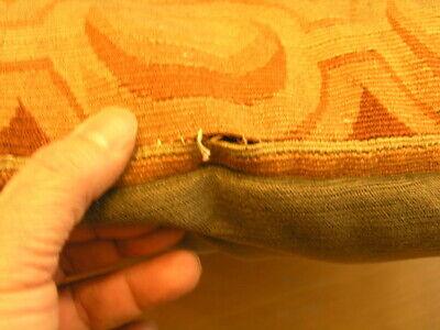 """Pair of Antique Aubusson Tapestry Huge Pillows 22x22x5"""" / 55x55x13cm Velvet Back 11"""