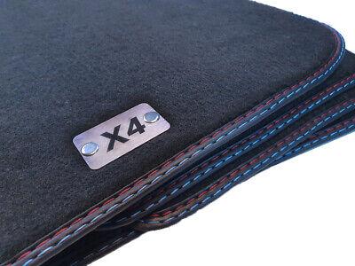 Kofferraummatte für BMW X4 F26 Bj.2014 Original Doppelnaht Fußmatten Velours