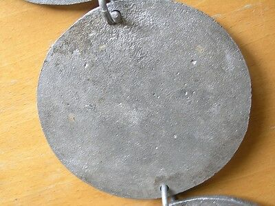 Four Great Cast Metal Round Chained Hanging Plaques Renaissance Scenes 10