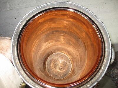 1. Transport - Zylinder mit 2 Griffen, 60 cm hoch, innen kupferfarbenes Glas,DDR 2