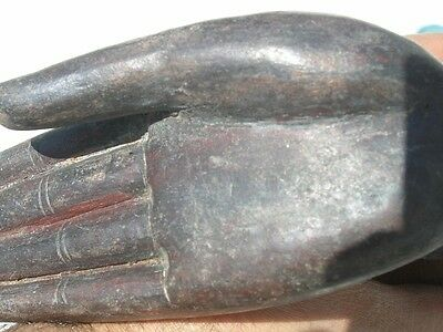 Exceptional Ancient Asian Bronze Buddha Hand Mounted 11