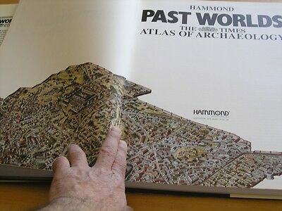 Hammond Past Worlds The Times Atlas of Archaeology Hardcover Brown Cloth @ 1988
