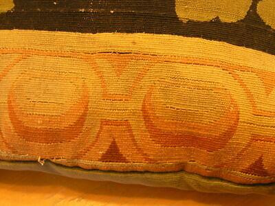 """Pair of Antique Aubusson Tapestry Huge Pillows 22x22x5"""" / 55x55x13cm Velvet Back 12"""