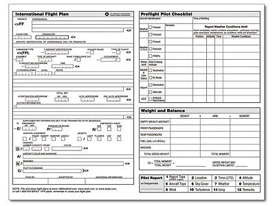 ASA FLIGHT PLANNER Pad - Flight Training & Cross-Country Pilots! - ASA-FP-3  NEW!