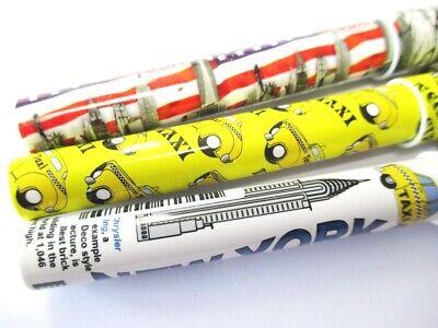 New York Kugelschreiber Pen 4 Stück !! U Bahn Subway,lizensiert
