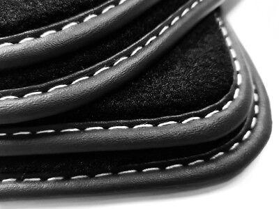 Fußmatten Metal Logo für SEAT ALTEA 5P Original Qualität Velours Matten Teppich