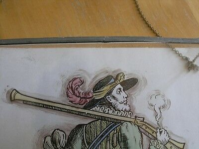 Antique Stained Glass German Military Lansquenet Foot Soldier Hand Painted 10