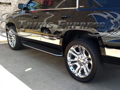 Chevrolet Tahoe YUKON 15-18 Chrome FLAT Body Side Molding Stainless Steel Trim