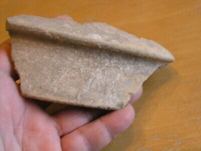 "Ancient pre-columbian Terra-cotta Pottery Bowl Shard 5"" x 2.5 "" 4"
