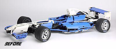 REPLACEMENT 'DIE CUT' STICKERS for Lego 8461 Williams F1 Team Racer + BONUS 7