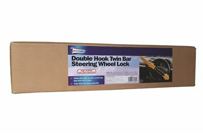 SW Heavy Duty Car Van Steering Wheel Lock High Security Anti Theft Twin Bar Hook 3