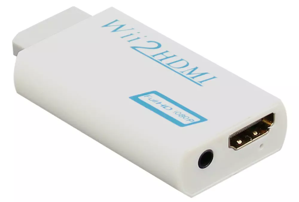 Wii To Hdmi Adapter Wii2hdmi 1080p Converter 3.5mm Audio Video Full HD Wii HDTV 8
