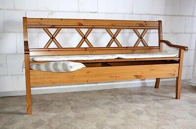 Sitzbank Mit Lehne 180cm Holz Kiefer Goldbraun Bank Ruckenlehne