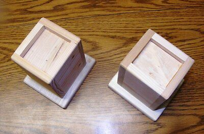 Wood Bed Lifters Bed Risers 5-Inch Lift Height 3-inch wide bed post Set of 5