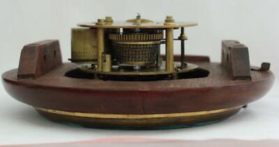 "Rare Miniature Antique English Mahogany 8 Day 7"" Fusee Dial Clock Webb Sandgate 9"