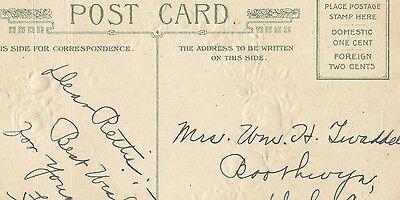 Vintage Postcard Birthday Wishes Sincere Poem Embossed Roses 5 95