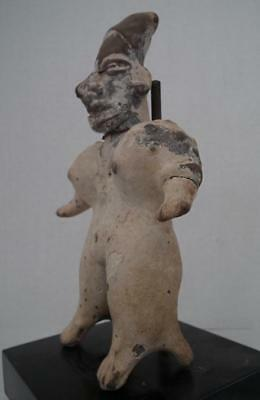Antique Pre-Columbian Jalisco Polychrome Ceramic Female Figure 200 BC - 200 AD 8