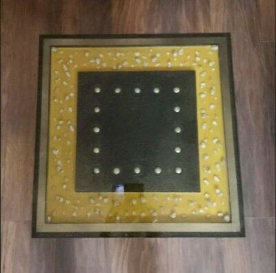 SQUARE, GOLD AND Black 3D Epoxy Resin Coffee table
