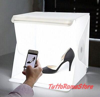 ✔Kit Set Studio Fotografico Portatile Softbox Sfondo Schermo Illuminazione Stand