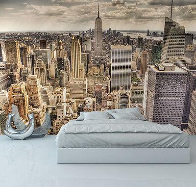 Wallpaper mural photo new york skyline wall decor paper for Acheter poster mural new york