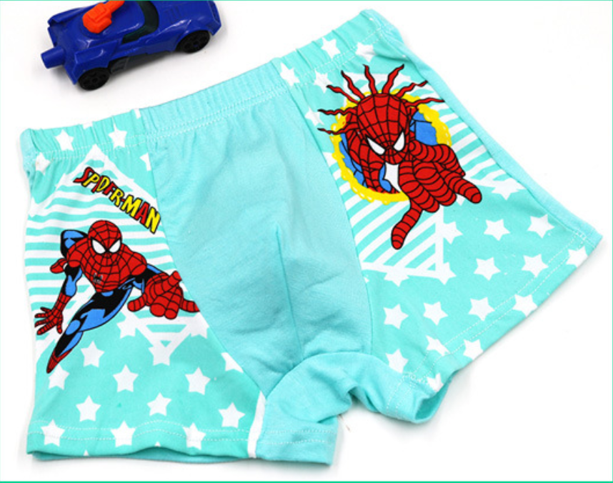 100/% Cotton Kids Boys Boxer Brief Underwear Spider-Man Cartoon Panties wholesale