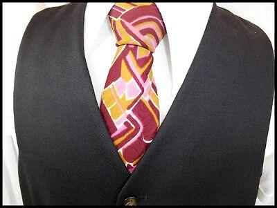 Vintage 50s 60s Dark Brown Wool Blend Waistcoat Formal Mod Steampunk 38 Chest