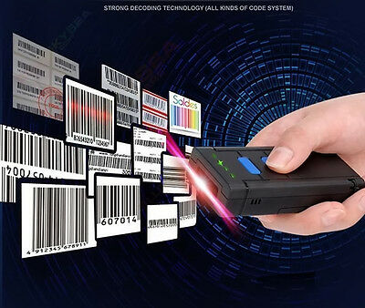 Wireless Bluetooth Barcode Scanner Code Reader for IOS Android Apple Windows AU! 5