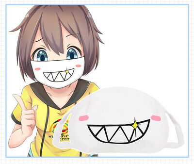 Kawaii Kaomoji Emoticon Face Mask Japanese Korean Style Mouth-muffle Anti-dust