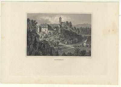 Aufseß (Hollfeld) : Aufseess. - Stahlstich von Poppel, um 1870 2