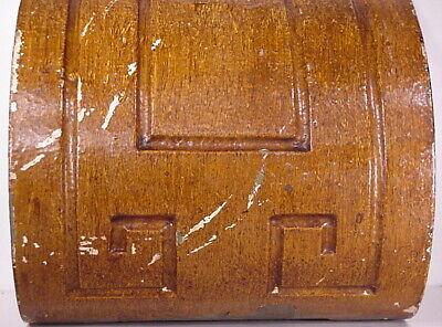 Antique Sconce Hand Carved Architectural Wood Bracket Art Deco Corbel Pediment 6
