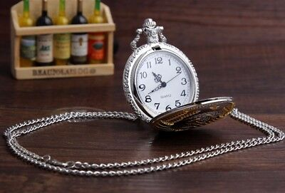 Soviet Pocket Watch Necklace Mens Clock Union USSR Moscow Vintage Putin Russia 8