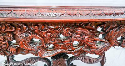 RARE Chinese 19C CARVED DRAGON Rosewood Library/Foyer TABLE Exlnt!! 2