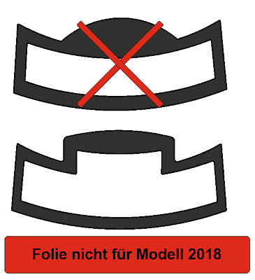 Schutzfolie für Jura S8 S80 & E6  E60  E8  E80 2015 Tassenablage Tassenplattform 5
