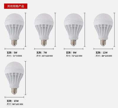 E27 3W/5W/7W/9W/12W/15W  LED Radar Lampe Birne mit Lampe Neu 5