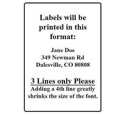 400 Return Address Labels. 1/2 x 1.75 Inch White Labels. Easy Peel & Stick. 5