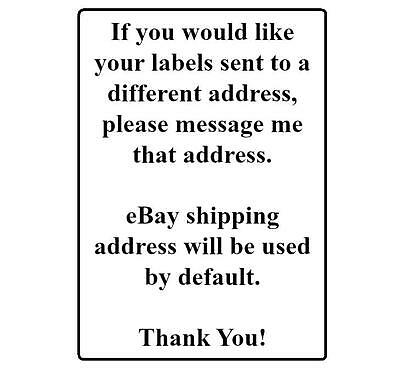 400 Return Address Labels. 1/2 x 1.75 Inch White Labels. Easy Peel & Stick. 7