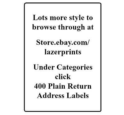 400 Return Address Labels. 1/2 x 1.75 Inch White Labels. Easy Peel & Stick. 9