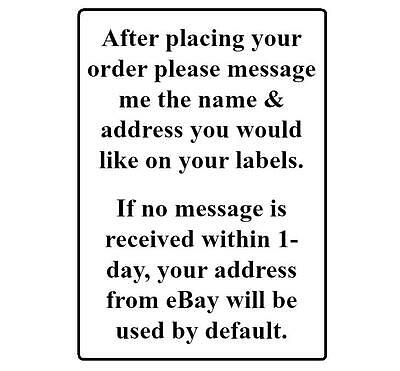 400 Return Address Labels. 1/2 x 1.75 Inch White Labels. Easy Peel & Stick. 4