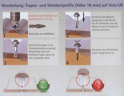 Reisser DSH Abstandsset für Sinuswellplatten Trapezprofile Sinus Holz 100 Stk.