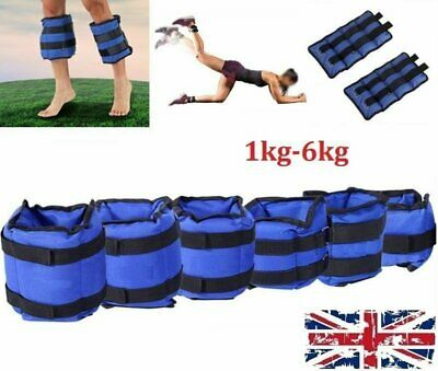 UK Ankle Weights Adjust Leg Wrist Strap Running Training Fitness Workout 1KG-6KG 2