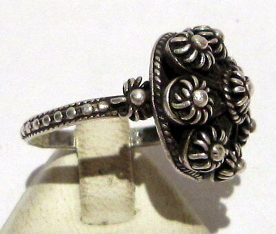 Amazing Post-Medieval Silver Ring With Beautiful Filigree  # 395 3